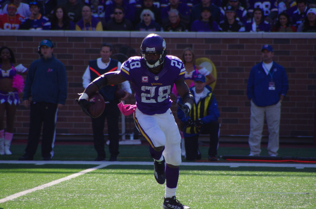 Peterson, 31, might be in his last season with the Vikings this year. (Photo credit: Cumulus Media)